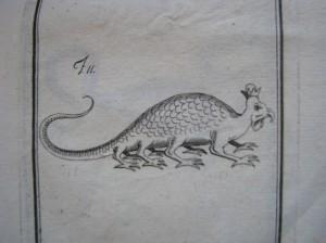 Illustrazione raffigurante un basilisco