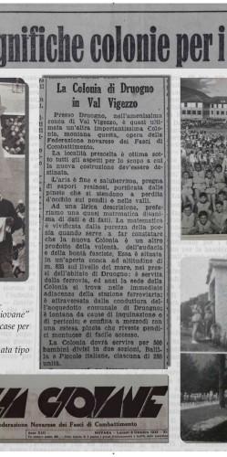 colonia druogno giornali inaugurazione
