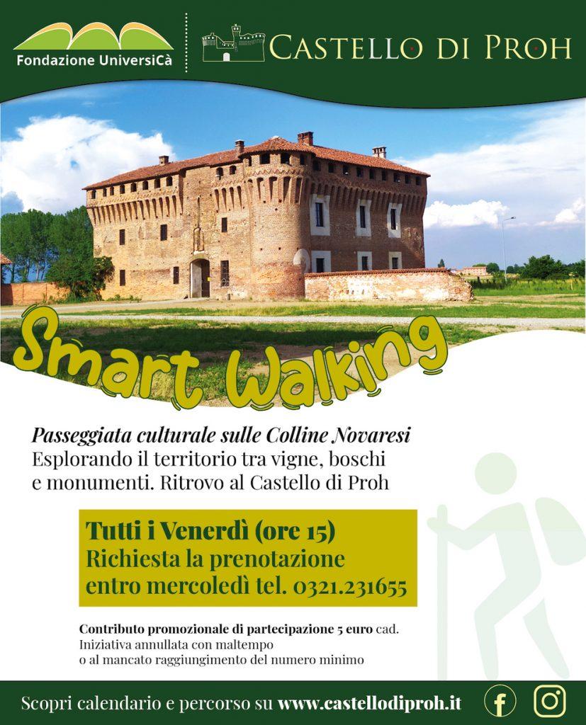 Locandina Smart Walking al Castello di Proh